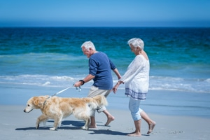 Neuropathy Solutions Couple Walking Dog